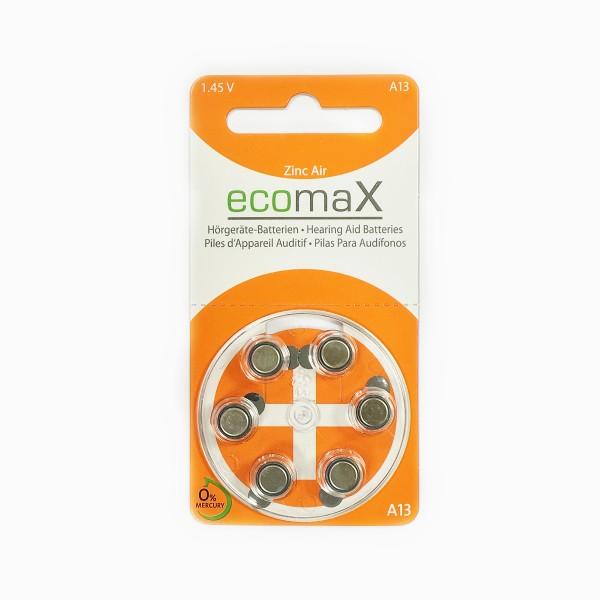 Basic Hörgerätebatterien Ecomax Größe 13