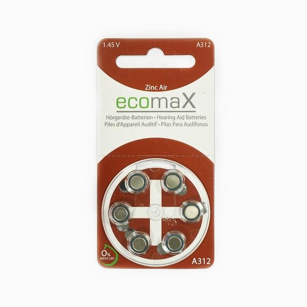 Basic Hörgerätebatterien Ecomax Größe 312