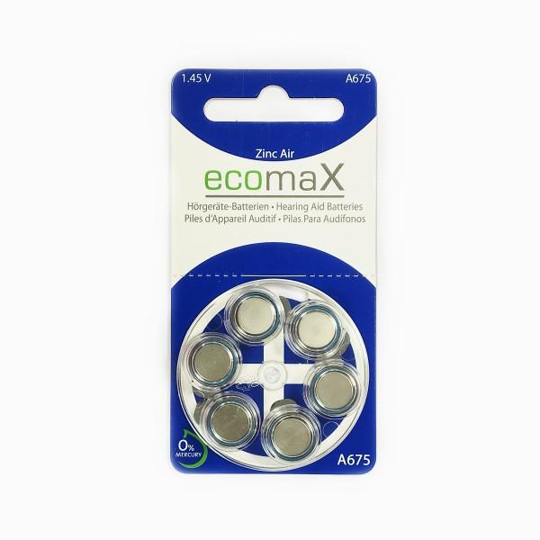 Basic Hörgerätebatterien Ecomax Größe 675