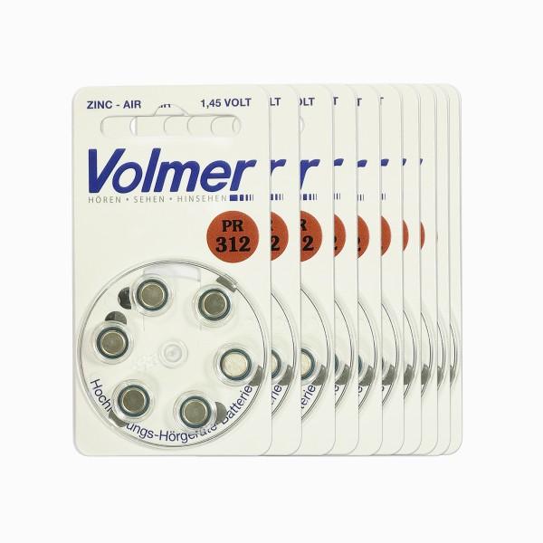 Premium Hörgerätebatterien Volmer Größe 312